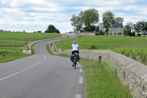 vélo route des châteaux médoc