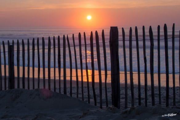 coucher du soleil plage atlantique