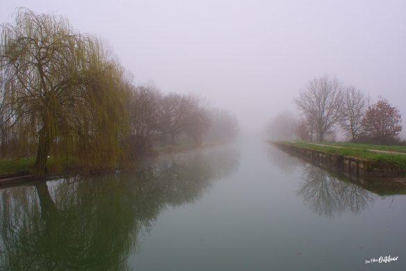 brouillard canal des 2 mers à vélo