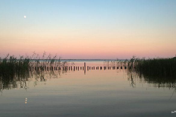 lac d'hourtin coucher du soleil