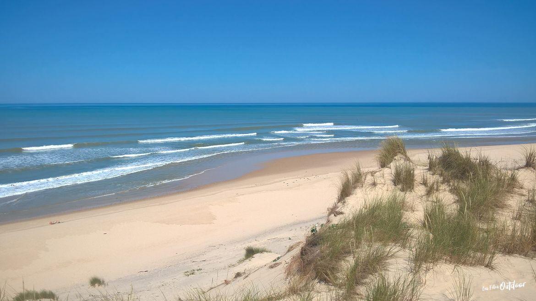 plage océan atlantique carcans