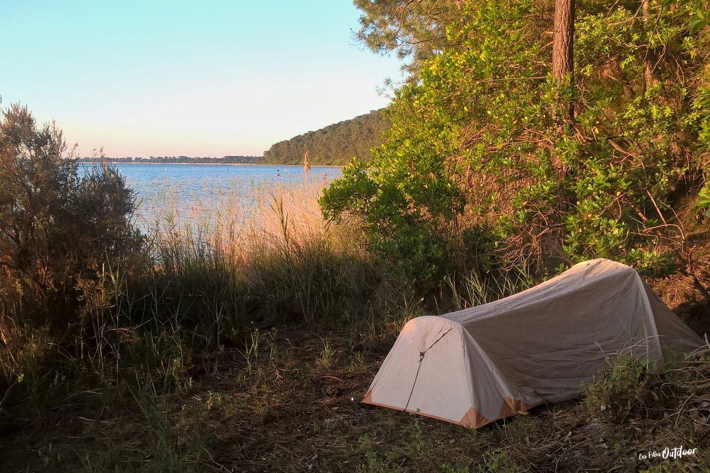 bivouac au lac d'hourtin/carcans